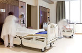Fixing hospital beds room — Stock Photo