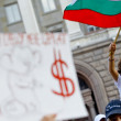 Bulgaria anti socialist government protest — Stock Photo