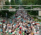 Protest march Bulgaria — Stock Photo
