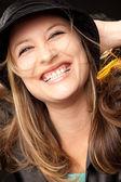 счастливый счастье женщина — Стоковое фото