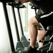 Jim bicycle fitness — Stock Photo
