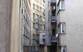 Narrow city buildings — Stok fotoğraf