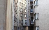 Narrow city buildings — Stock Photo