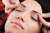 Relaxing face massage — Stock Photo