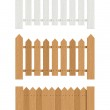 Wooden fence — Stock Vector #19324809