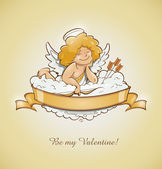 Love angel cupid for valentine's day — Vector de stock