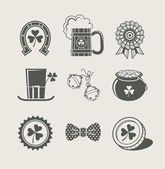 Patrick's day set of icons — 图库矢量图片