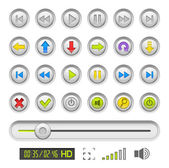 Set of buttons for media player — Stock Vector