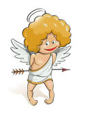 Angel cupid for valentine's day — Stock Vector