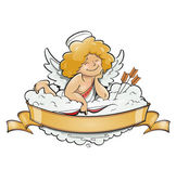 Love angel cupid for valentine's day — Stock Vector