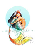 Mermaid fairy-tale character — Stock Photo