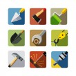 Construction tools. set of vector icons — Vettoriali Stock