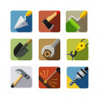 Construction tools. set of vector icons — Imagens vectoriais em stock