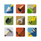 Construction tools. set of vector icons — Vetor de Stock