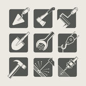 Construction tools. set of vector icons — Stock Vector