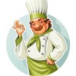 Smiling cook show okay — Stock Vector #41740283