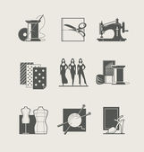 Sewing. Set of  icons — Stock Vector