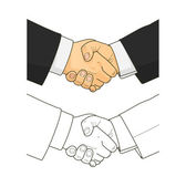 Male handshake — Vector de stock