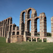 A roman aqueduct in Merida, Spain - Stock Photo