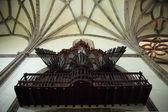 Photograph of an old organ in a church in Spain — Foto de Stock