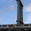 Detail of one pillar of the Manhattan Bridge — Stock Photo