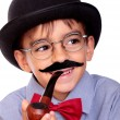 Boy and mustache — Stock Photo