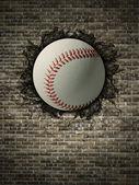壁に野球 — ストック写真
