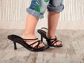 Child in heels — Stock Photo