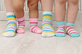 Family in socks — Foto Stock