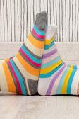 Couple in socks — Стоковое фото