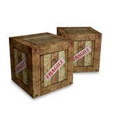 Caixa frágil — Foto Stock