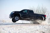Truck jump — Stock Photo