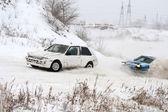 Corrida de inverno — Fotografia Stock