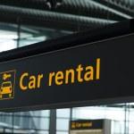 Car rental sign — Stock Photo #28867665