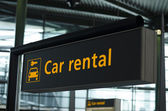 Car rental sign — Stock Photo
