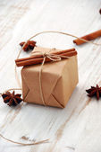 Vintage Christmas gift box — Stock Photo