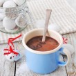 chocolat chaud avec les cookies — Photo