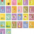 Colorful abc letters - Stok Vektr