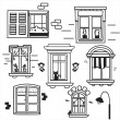 Hand drawn windows - Stock Vector