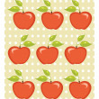Cute apple background - Stock Vector