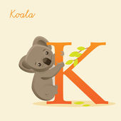Animal alphabet with koala — Stock Vector