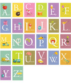 Colorful abc letters — Stock Vector
