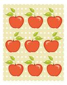 Sfondo carino apple — Vettoriale Stock