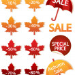 Autumnal discount - Stock Vector