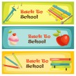 Back to school banners — Stock Vector #18220721