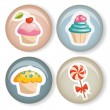 Cute badges — Stock Vector