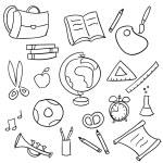 Back to school - set of school doodle — Stock Vector #18221333
