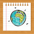 Hand drawn earth — Stock Vector