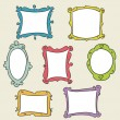 Hand drawn frames - Stock Vector