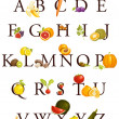 Fruits and vegetables alphabet — Stock Vector #18221645